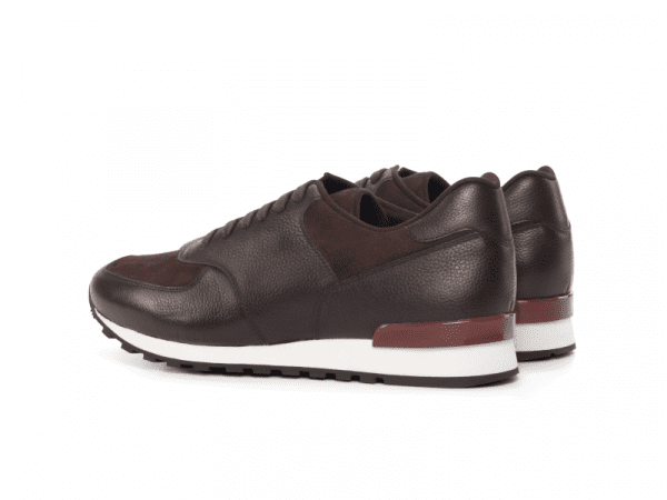 Jogger Sneaker for men in brown suede Cambrillon-2