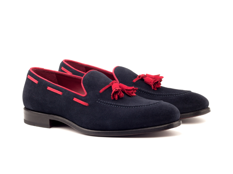 Loafer for men in blue suede Cambrillon
