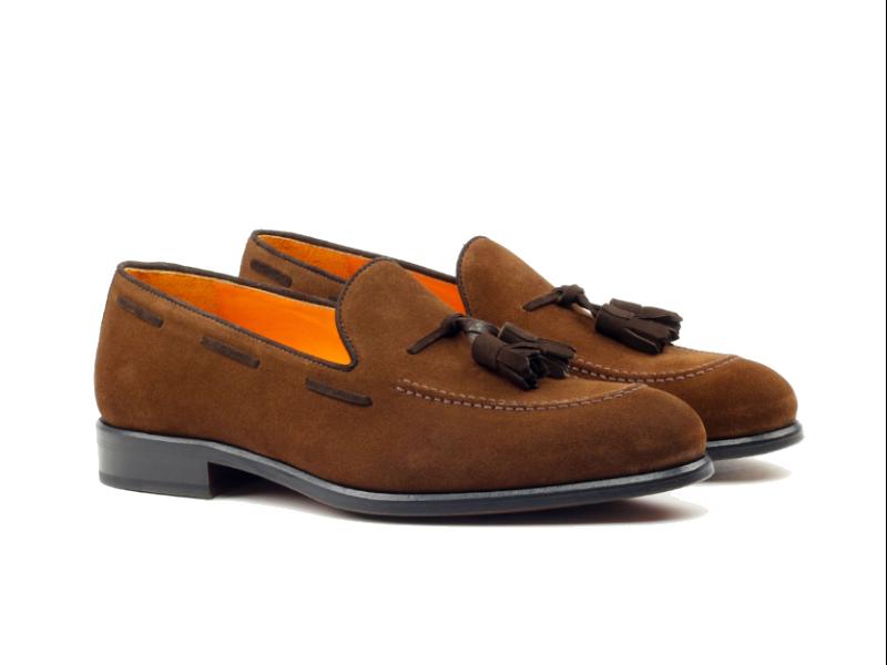 Tassel Loafer for men in brown suede Cambrillon