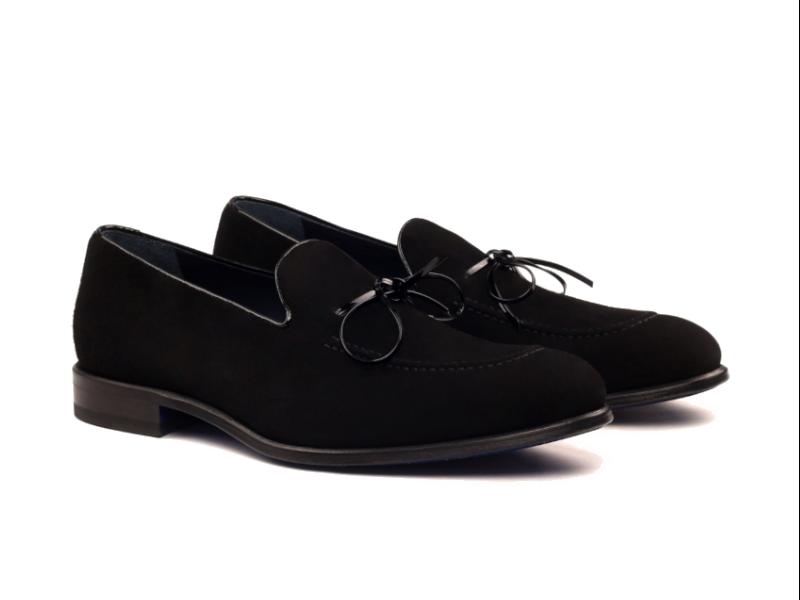 Loafer for men in black suede Cambrillon