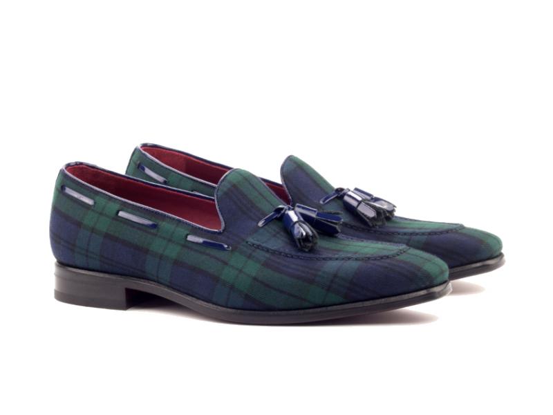 Loafer for men in blackwatch sartorial Cambrillon