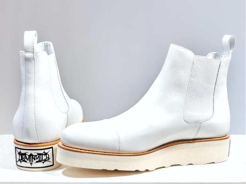 Omega by Dominnico Chelsea Boot White