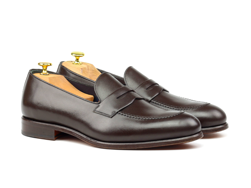Brown Penny loafer for men Goodyear welted Cambrillon