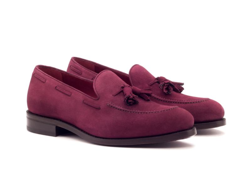 Tassel loafer for men in wine suede Cambrillon