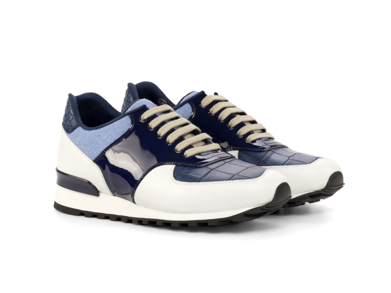 Jogger sneaker for men Cambrillón white and blue
