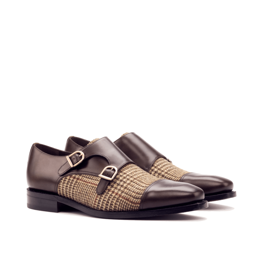 Goodyear Welted Double monk shoes for men Cambrillon