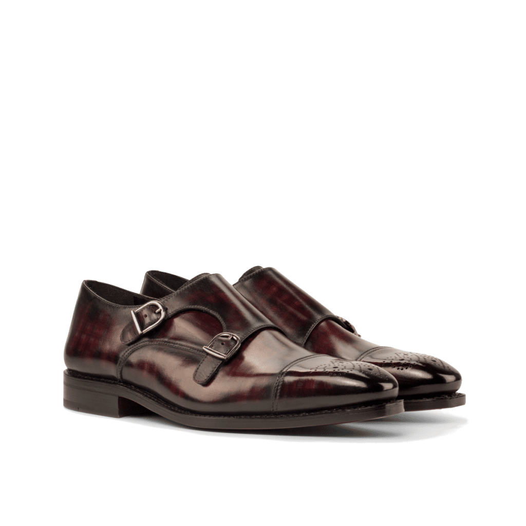 Goodyear Welted Double monk shoes for men by Cambrillon