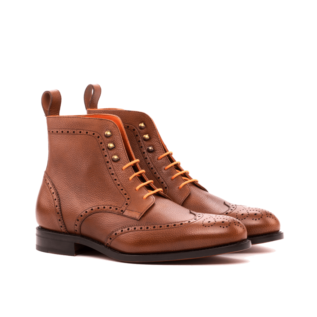 Goodyear Welted Leather Wingtip Boots for men Cambrillon