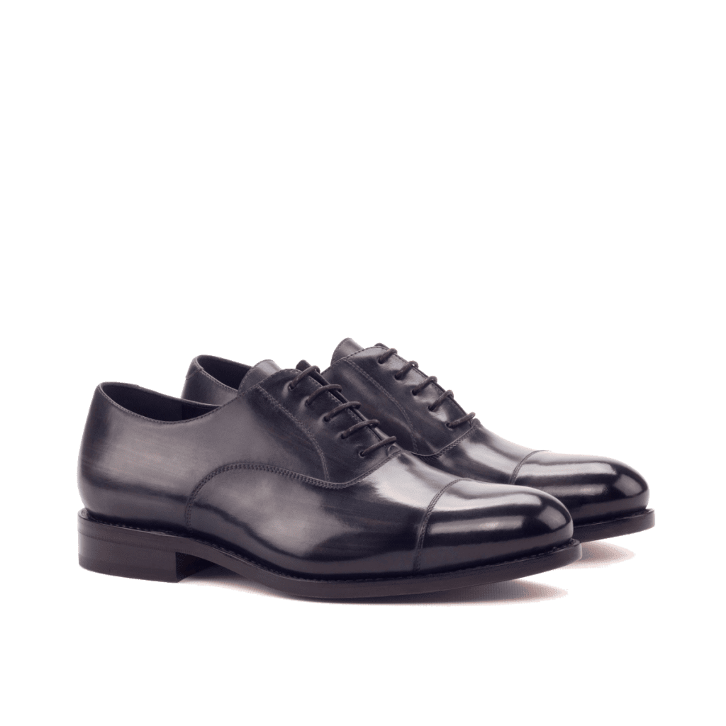 Goodyear Welted black Oxford shoes for men Cambrillon